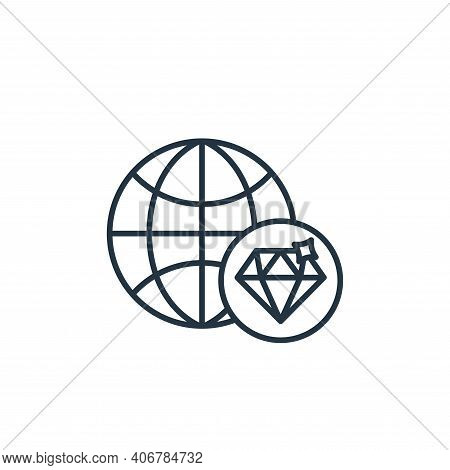 global icon isolated on white background from casino collection. global icon thin line outline linea