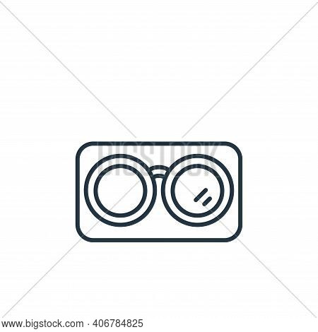 glasses icon isolated on white background from retirement collection. glasses icon thin line outline