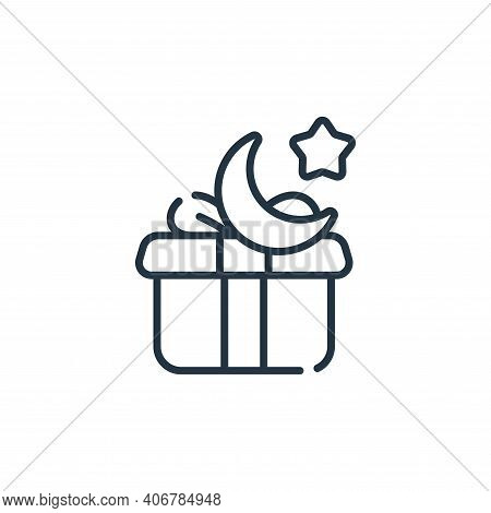 gift icon isolated on white background from ramadan collection. gift icon thin line outline linear g