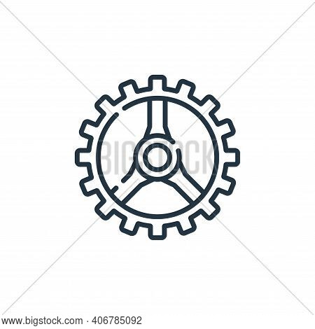 gear icon isolated on white background from auto racing collection. gear icon thin line outline line