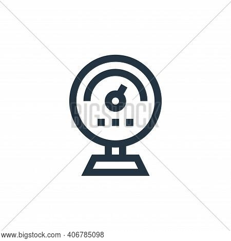 gauge icon isolated on white background from industrial process collection. gauge icon thin line out