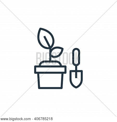 gardening icon isolated on white background from stay at home collection. gardening icon thin line o