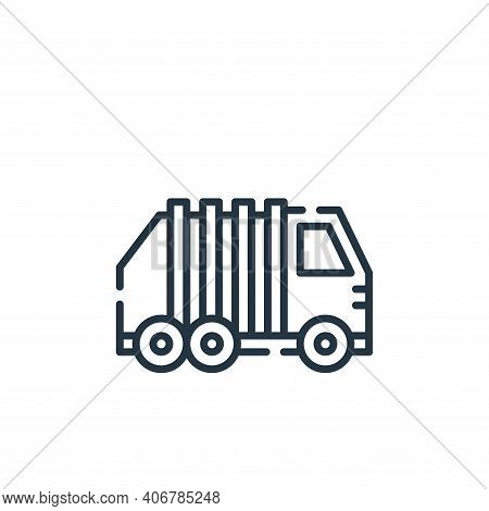 garbage icon isolated on white background from cleaning collection. garbage icon thin line outline l