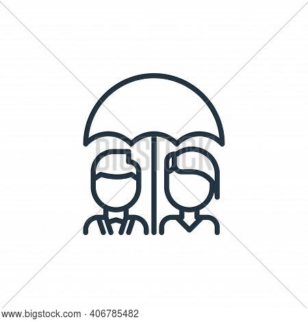 funeral icon isolated on white background from funeral collection. funeral icon thin line outline li