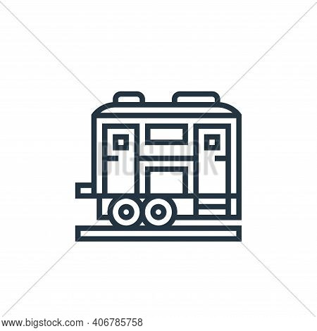 freight wagon icon isolated on white background from railway collection. freight wagon icon thin lin