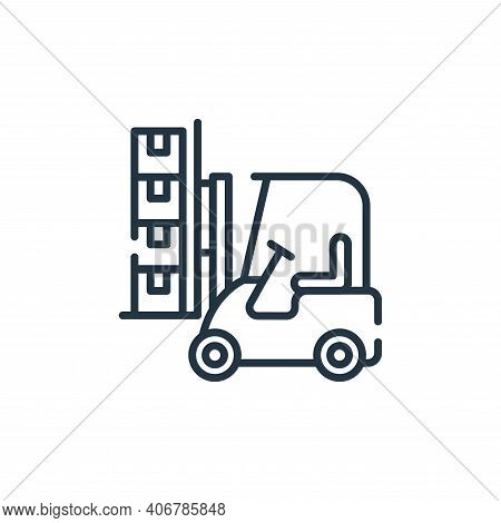 forklift icon isolated on white background from industrial process collection. forklift icon thin li