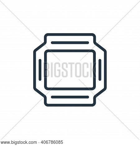 food tray icon isolated on white background from food collection. food tray icon thin line outline l