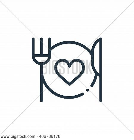 food icon isolated on white background from world love collection. food icon thin line outline linea