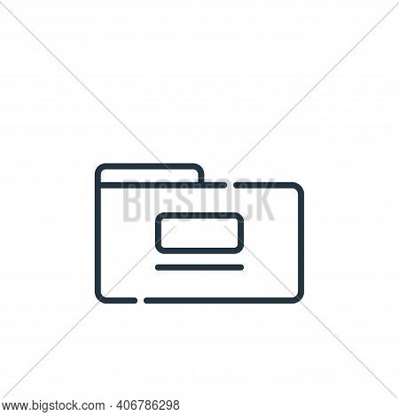 folder icon isolated on white background from telecommuting collection. folder icon thin line outlin