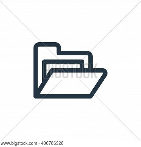 folder icon isolated on white background from document and files collection. folder icon thin line o