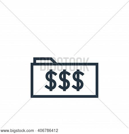 folder icon isolated on white background from finance collection. folder icon thin line outline line