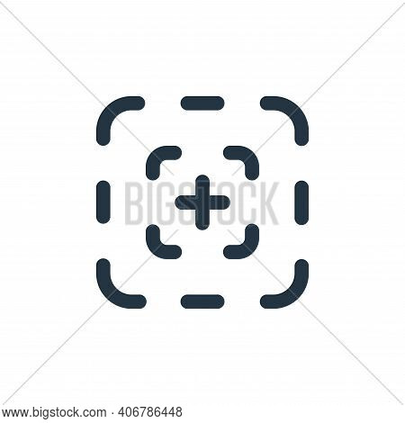 focus icon isolated on white background from video collection. focus icon thin line outline linear f