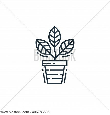 flower pot icon isolated on white background from environment and eco collection. flower pot icon th