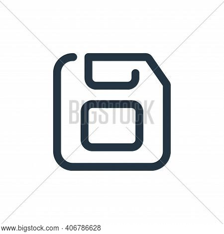 floppy disc icon isolated on white background from multimedia collection. floppy disc icon thin line