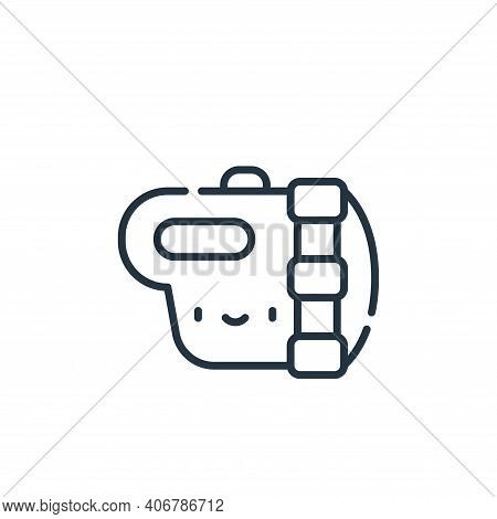 flashlight icon isolated on white background from electrician tools and elements collection. flashli