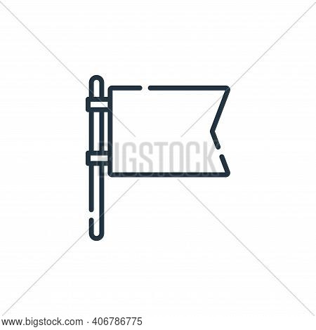 flag icon isolated on white background from navigation and maps collection. flag icon thin line outl