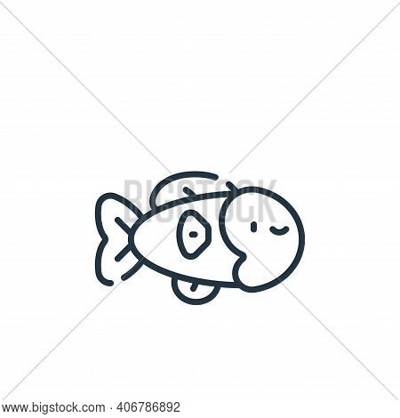 fish icon isolated on white background from italy collection. fish icon thin line outline linear fis
