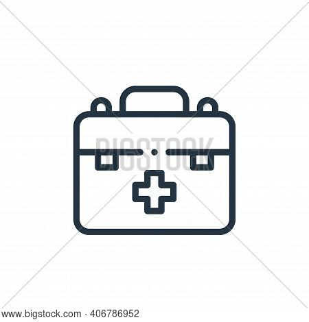 first aid kit icon isolated on white background from autoracing collection. first aid kit icon thin