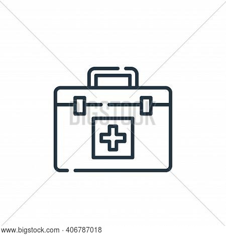 first aid kit icon isolated on white background from hygiene routine collection. first aid kit icon