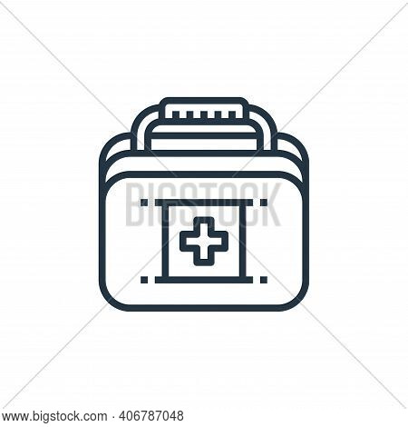 first aid box icon isolated on white background from camping collection. first aid box icon thin lin