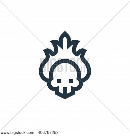 fire icon isolated on white background from rock and roll collection. fire icon thin line outline li