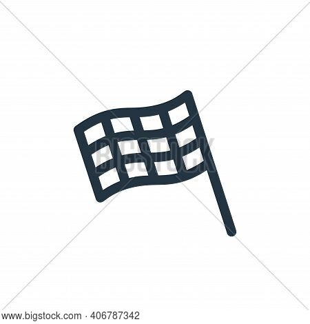 finish flag icon isolated on white background from auto racing collection. finish flag icon thin lin