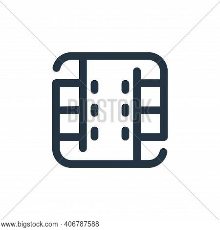 film icon isolated on white background from video collection. film icon thin line outline linear fil