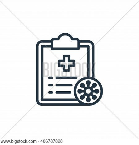 file icon isolated on white background from coronavirus collection. file icon thin line outline line