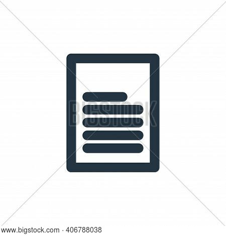 file icon isolated on white background from marketing business collection. file icon thin line outli