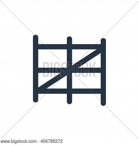 fence icon isolated on white background from landscaping equipment collection. fence icon thin line