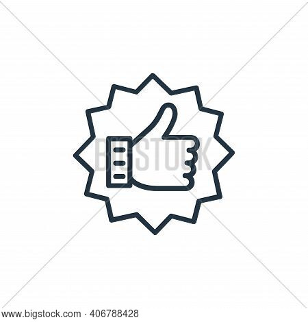 feedback icon isolated on white background from shopping line icons collection. feedback icon thin l
