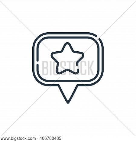 favourite icon isolated on white background from navigation and maps collection. favourite icon thin