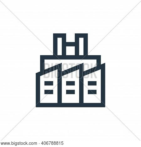 factory icon isolated on white background from industrial process collection. factory icon thin line