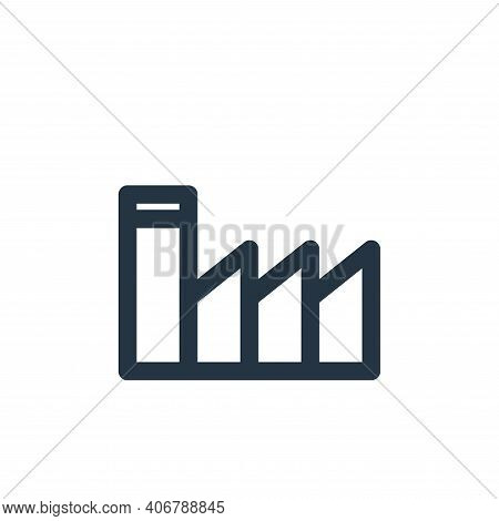 factory icon isolated on white background from marketing business collection. factory icon thin line