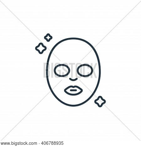 face mask icon isolated on white background from beauty cosmetics collection. face mask icon thin li