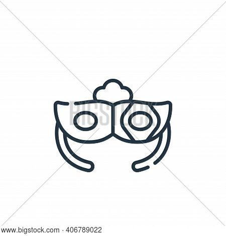 eye mask icon isolated on white background from italy collection. eye mask icon thin line outline li