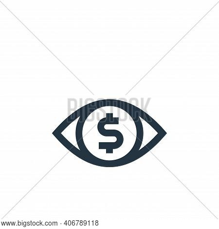 eye icon isolated on white background from marketing and growth collection. eye icon thin line outli