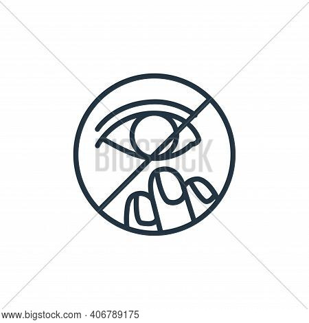 eye icon isolated on white background from stop virus collection. eye icon thin line outline linear