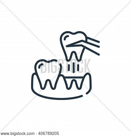 extraction icon isolated on white background from dental care collection. extraction icon thin line