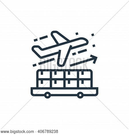 export icon isolated on white background from economic crisis collection. export icon thin line outl