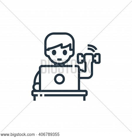 exercise icon isolated on white background from working from home collection. exercise icon thin lin