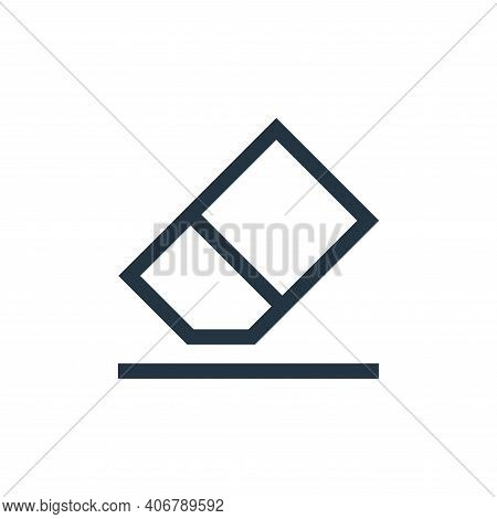 eraser icon isolated on white background from text editor collection. eraser icon thin line outline