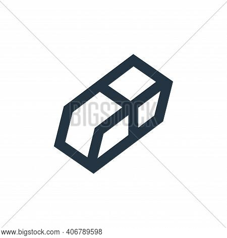eraser icon isolated on white background from office stationery collection. eraser icon thin line ou