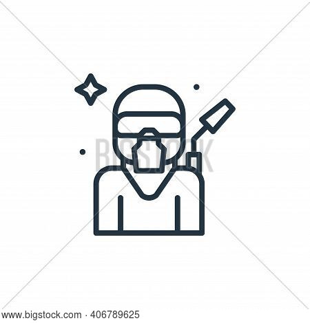 equipment icon isolated on white background from mass disinfection collection. equipment icon thin l