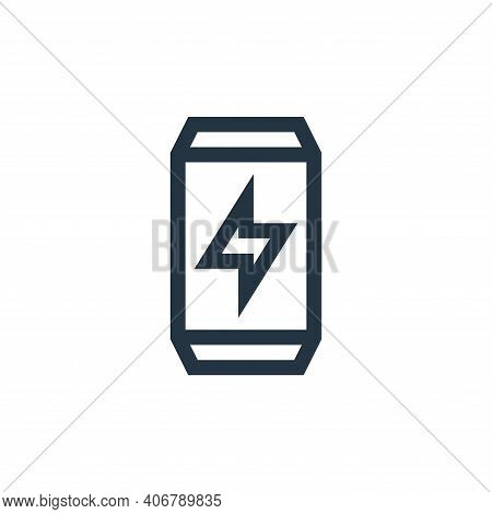 energy drink icon isolated on white background from rock and roll collection. energy drink icon thin