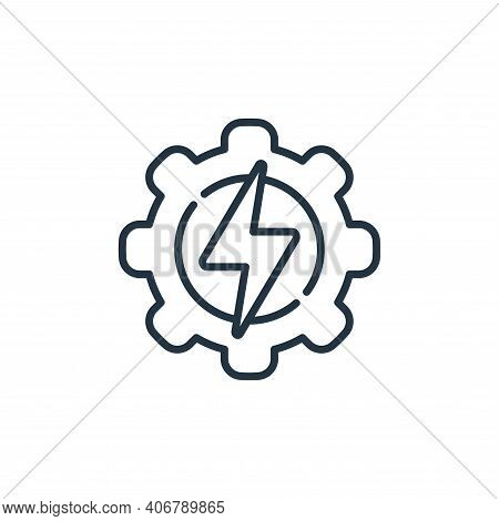 energy icon isolated on white background from electrician tools and elements collection. energy icon