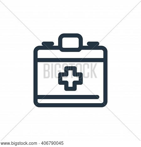 emergency kit icon isolated on white background from medical tools collection. emergency kit icon th