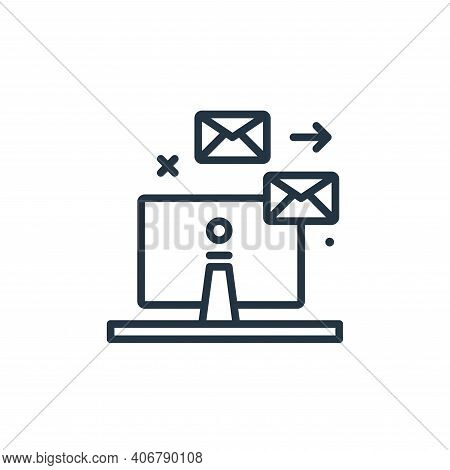 emails icon isolated on white background from work from home collection. emails icon thin line outli