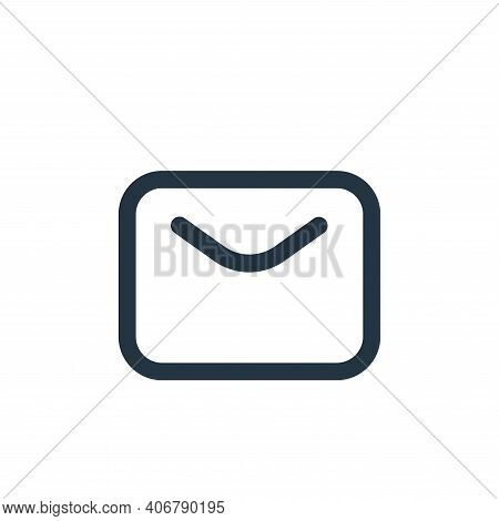 email icon isolated on white background from multimedia collection. email icon thin line outline lin
