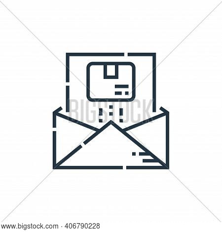 email icon isolated on white background from delivery collection. email icon thin line outline linea
